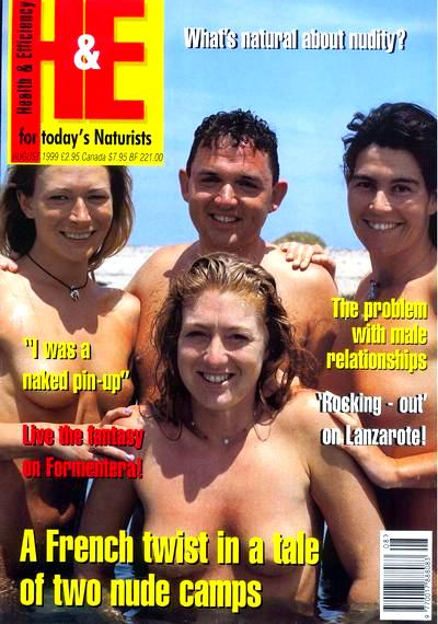 Wendy, with Jack, Claire & Holly on H&E Magazine Cover, Charlies No.58, Aug 1999